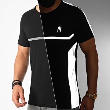 NI by Ninho - Tee Shirt A Bande Reflector Réfléchissant Noir