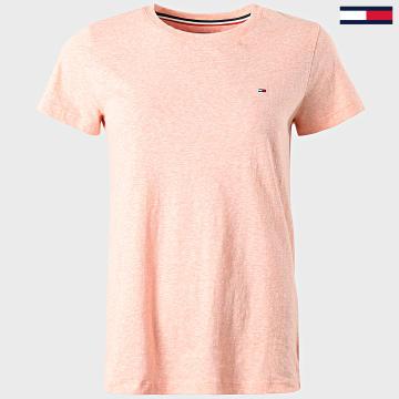 Tommy Hilfiger - Tee Shirt Femme Texture 8527 Rose Chiné