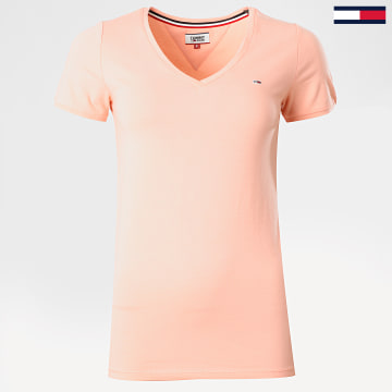 Tommy Jeans - Tee Shirt Femme 8302 Rose