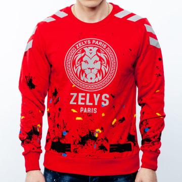 Zelys Paris - Sweat Crewneck Oreflect Réfléchissant Rouge