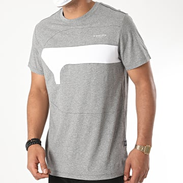 G-Star - Tee Shirt One Cut And Sewn D17123 Gris Chiné