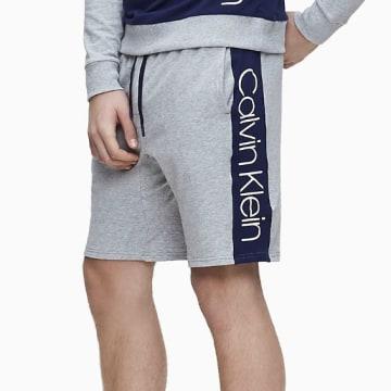 Calvin Klein - Short Jogging A Bande 1800 Gris Chiné