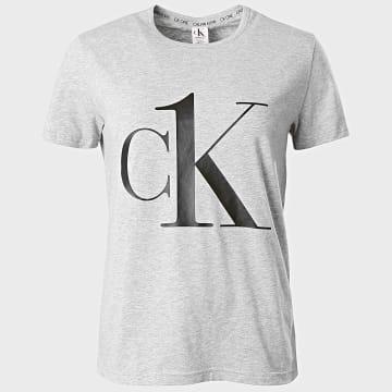 Calvin Klein - Tee Shirt Femme 6436 Gris Chiné