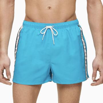 Calvin Klein - Short De Bain Drawstring 0451 Bleu Clair