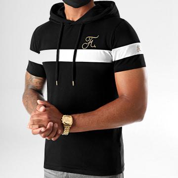 Final Club - Tee Shirt A Capuche Gold Label Avec Broderie Or 412 Blanc Noir