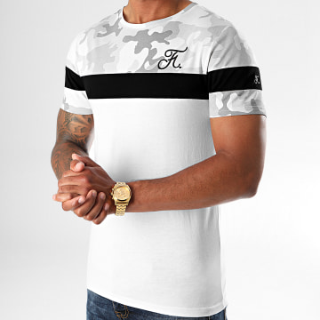 Final Club - Tee Shirt Camouflage Tricolore Avec Broderie 413 Blanc