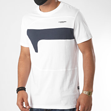 G-Star - Tee Shirt One Cut And Sewn D17123 Blanc