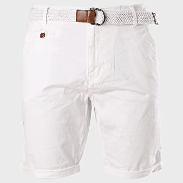 Indicode Jeans - Short Chino Conor Blanc