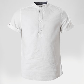 Indicode Jeans - Chemise Manches Courtes Mao 20-082S20 Blanc