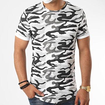 LBO - Tee Shirt Oversize Camouflage 1117 Gris Blanc