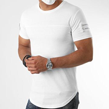 LBO - Tee Shirt Oversize Avec Zips 1131 Blanc