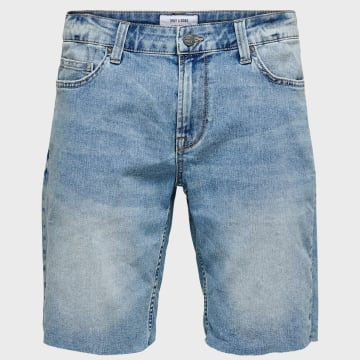 Only And Sons - Short Jean Ply 22015275 Bleu Wash