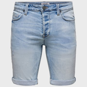 Only And Sons - Short Jean Ply 22015541 Bleu Wash
