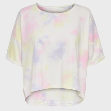 Only - Tee Shirt Femme Zoey Life 15200877 Blanc
