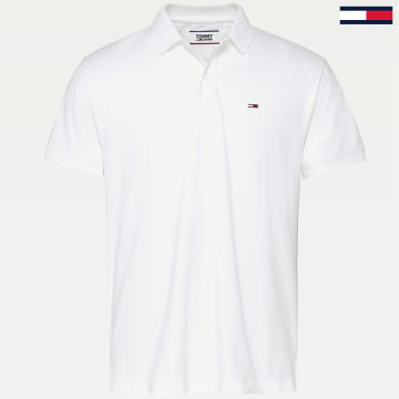 Tommy Jeans - Polo Manches Courtes Classics 7196 Blanc