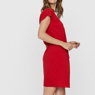 Vero Moda - Robe Courte Femme Sasha Bali 10229168 Rouge