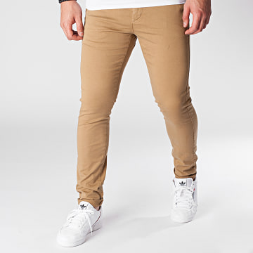 Celio - Pantalon Chino Skinny Motalia 4 Camel