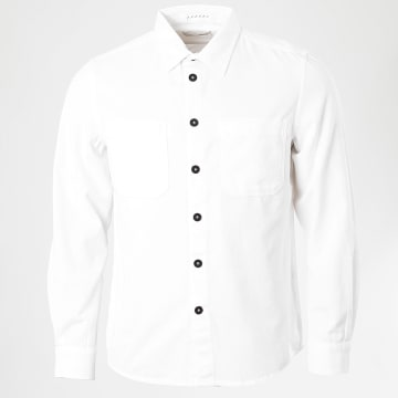 Celio - Chemise Manches Longues Rawork Blanc