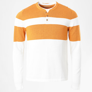 Celio - Pull Chill Ray Beige Orange