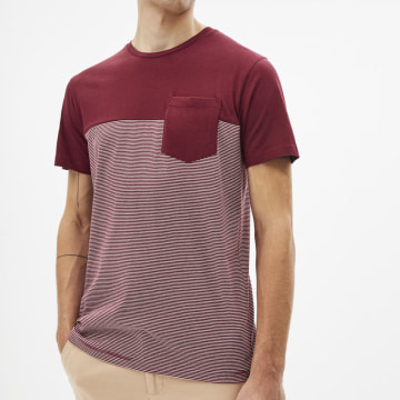 Celio - Tee Shirt Poche Rex Duo Bordeaux