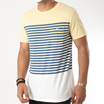 Jack And Jones - Tee Shirt Poche Grade 12169782 Dégradé Jaune