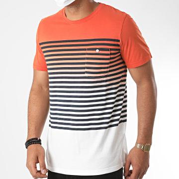 Jack And Jones - Tee Shirt Poche Grade 12169782 Dégradé Orange