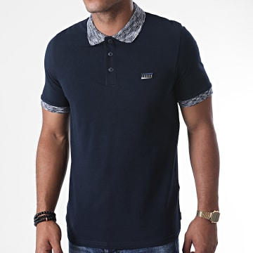 Jack And Jones - Polo Manches Courtes Contrast Piping 12171398 Bleu Marine