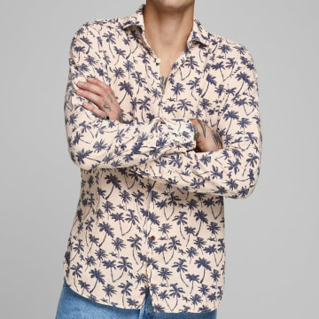 Jack And Jones - Chemise Manches Longues Dan 12170683 Rose Pale