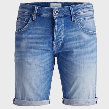 Jack And Jones - Short Jean Rick Grid 12164987 Bleu Wash