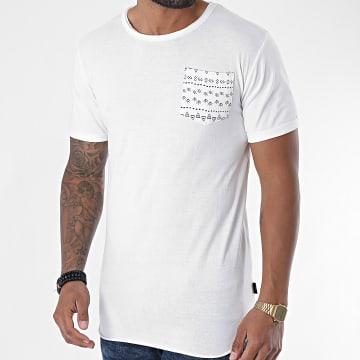 Indicode Jeans - Tee Shirt Oversize Poche Gaillarde Ecru