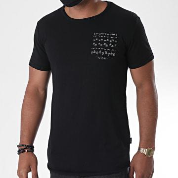 Indicode Jeans - Tee Shirt Oversize Poche Gaillarde Noir