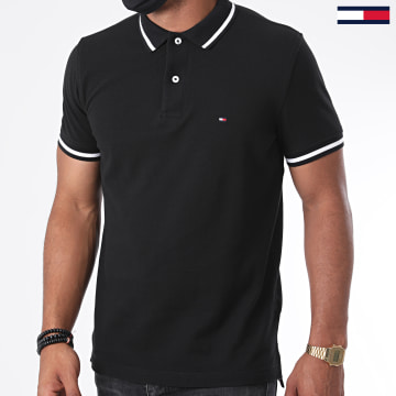 Tommy Hilfiger - Polo Manches Courtes Basic Tipped 0768 Noir