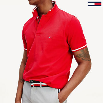 Tommy Hilfiger - Polo Manches Courtes Basic Tipped 0768 Rouge