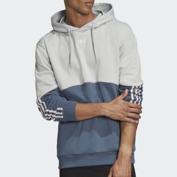 Adidas Originals - Sweat Capuche Outline FM3888 Gris Bleu