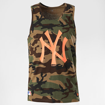 New Era - Débardeur 12369848 New York Yankees Camouflage Vert Kaki