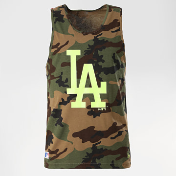 New Era - Débardeur 12369849 Los Angeles Dodgers Camouflage Vert Kaki