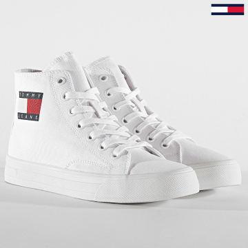 Tommy Jeans - Baskets Montantes Femme Mid Cut Lace Up 0937 White