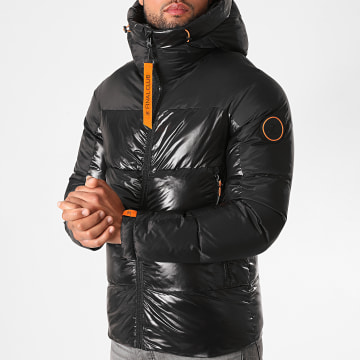 Final Club - Doudoune Capuche Premium Mountain Noir Orange