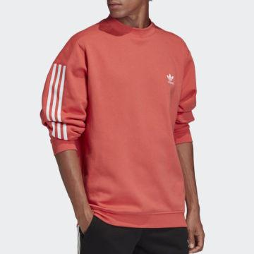 Adidas Originals - Sweat Crewneck A Bandes Tech FM3797 Corail
