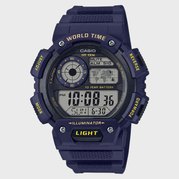 Casio - Montre Collection AE-1400WH-2AVEF Bleu Marine