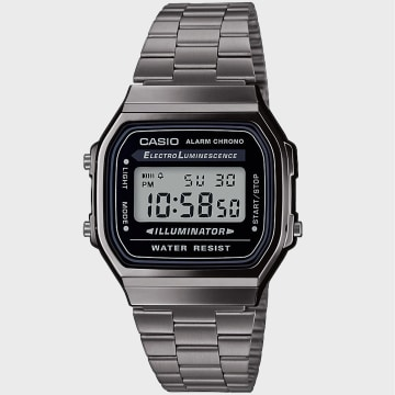 Casio - Montre Collection A168WEGG-1AEF Argenté Noir
