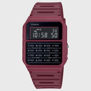 Casio - Montre CA-53WF-4BEF Bordeaux