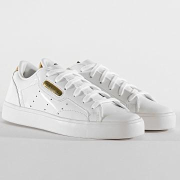 Adidas Originals - Baskets Femme Sleek FV3395 Cloud White Crystal White Gold Metallic