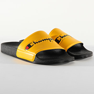 Champion - Claquettes Slide Varsity S21418 Black Yellow