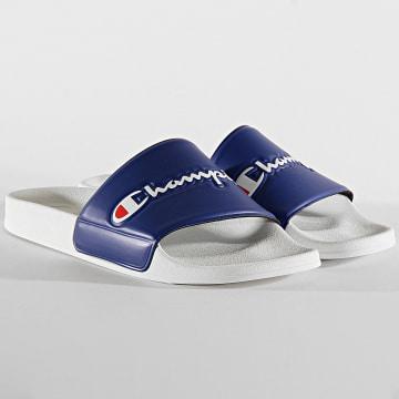 Champion - Claquettes Slide Varsity S21418 White Navy