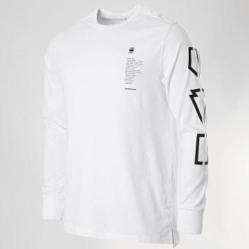 G-Star - Tee Shirt Manches Longues Multi Arm GR Shield D17151-C336 Blanc
