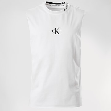 Calvin Klein - Débardeur Center Monogram 5981 Blanc