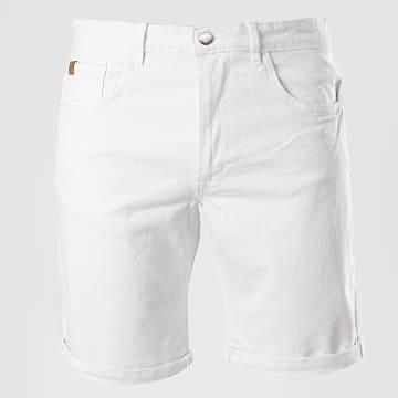 Blend - Short Jean Slim Twister 20710446 Blanc