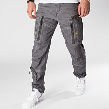 G-Star - Pantalon Cargo Arris Straight Tapered D16964-9740 Gris Chiné