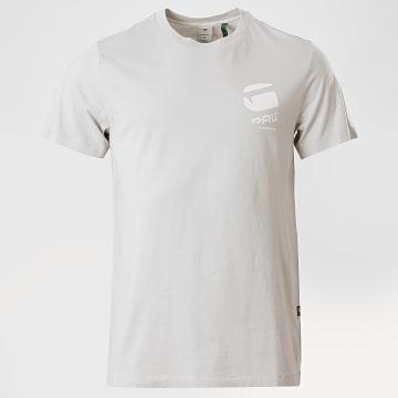 G-Star - Tee Shirt Big Logo Back D17142 Gris Clair
